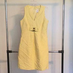 Julia Jordan Pale Yellow Sleeveless Dress
